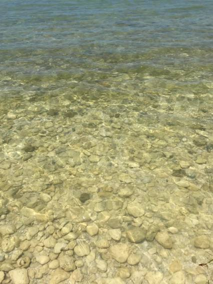 How clear the water is at Honeymoon Island