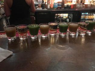 Tequila shots from Casa Tina